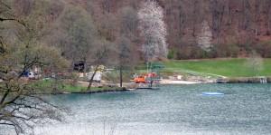 Baustelle Freibad Gemündener Maar